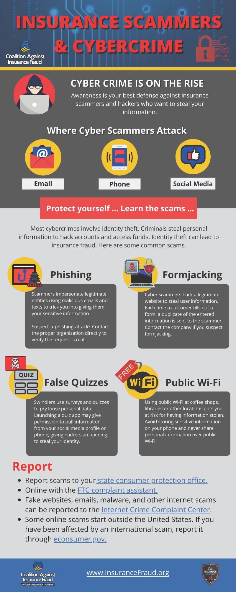 Description of cyber crime and insurance scams